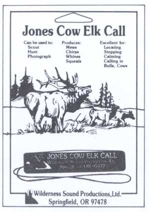 Jones Cow Elk Call