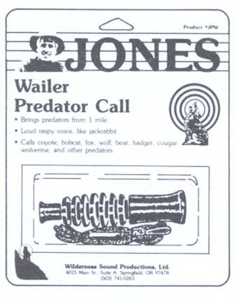 Jones Wailer Predator Call