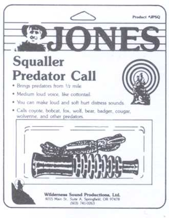 Jones Squaller Predator Call