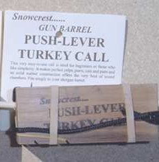 Snowcrest Gun-Barrel Push Button Turkey Call